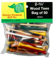 Charter 50 Pack Golf Tees