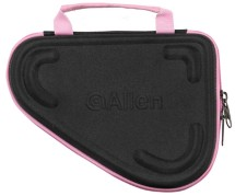Allen Molded Compact Pistol Case 8.5 Inch Black With Pink Trim