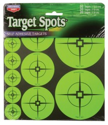 Self-Adhesive Target Spots Atomic Green With Crosshairs 110 Assorted Spots