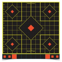 Shoot-N-C Sight-In Targets 12 Inch 5 Targets 60 Pasters