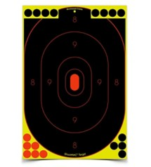 Shoot-N-C 12x18 Oval Silhouette 5 Targets 90 Pasters