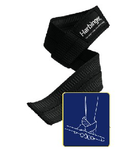 Harbinger Big Grip No Slip Lifting Strap' data-lgimg='{