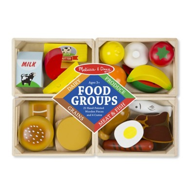 Melissa & Doug Food Groups Wooden Play Set