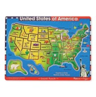 Melissa & Doug United States of America Sound Puzzle - 40 Pieces