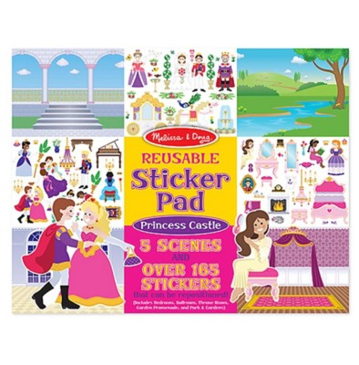 Melissa & Doug Resusable Sticker Pad - Princess Castle