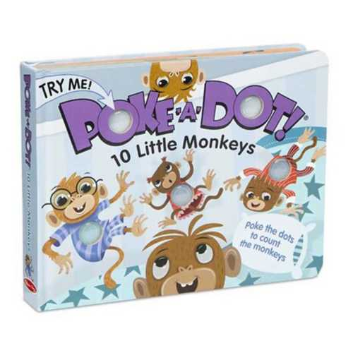 Melissa & Doug Poke-a-Dot: 10 Little Monkeys Book