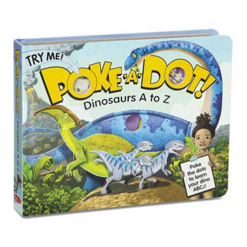 Melissa & Doug Poke-a-Dot: Dinosaurs A to Z Book