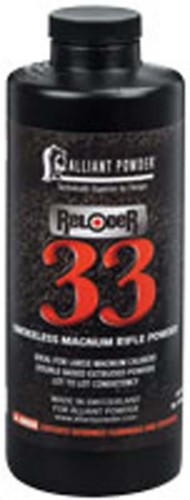 Alliant Reloder 33 Smokeless Magnum Rifle Reloading Powder