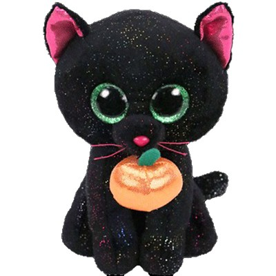 Ty Beanie Medium Potion Black Cat with Pumpkin