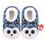 TY Plush Sequin Slush Husky Slippers