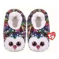 TY Plush Sequin Owen Owl Slippers