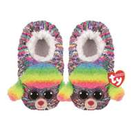 TY Plush Sequin Rainbow Poodle Slippers
