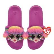 TY Plush Rainbow Poodle Sequin Slides