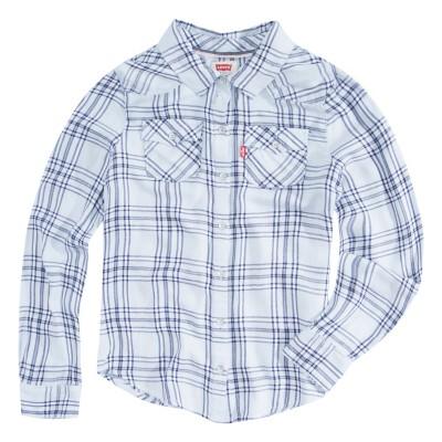 Grade School Girls' Levi's Western Long Sleeve Denim Shirt