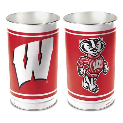 Wincraft Wisconsin Badgers Trash Can