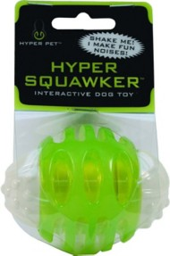 Hyper Pet Squawker Ball Dog Toy