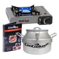 CanCooker Multi-Fuel Burner and Cooker JR Bundle