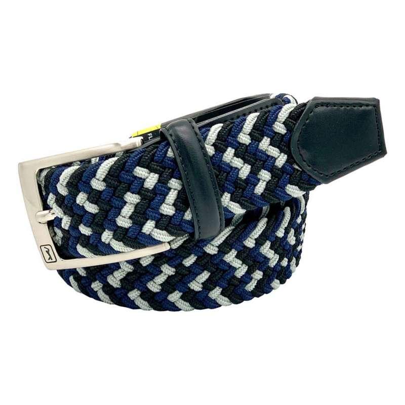 Men's PGA Blue Mixed Color Stretch Golf Belt