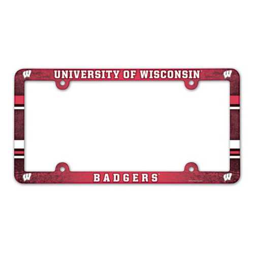 Wincraft Wisconsin Badgers Plastic License Plate Frame