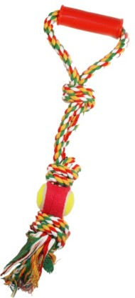 Scott Pet Rope Toy with Tennis Ball