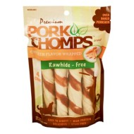 Pork Chomps Large Chicken Flavored Twistz Dog Treats 4 Pack