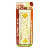 Pork Chomps 8-Inch Peanut Butter Flavored Crunchy Bone Dog Treat