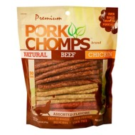 Pork Chomps Assorted Flavors Munchy Sticks Dog Treats 50 Pack