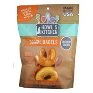 Howl's Kitchen Bacon, Egg, and Cheese Flavored Doggie Bagels Dog Treats 6 Pack