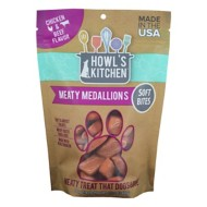 Howl's Kitchen Chicken and Beef Flavored Meaty Medallions Dog Treats