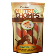 Nutri Chomps Chicken Flavored Twists with Wrap Dog Treats 4 Pack