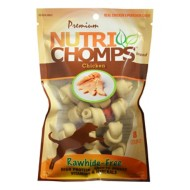 Nutri Chomps Chicken Flavored Mini Knot with Wrap Dog Treats 8 Pack