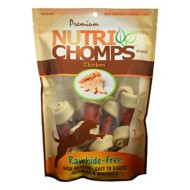Nutri Chomps 4-Inch Chicken Flavored with Wrapped Small Knot Dog Treats 7 Pack