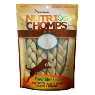 Nutri Chomps 9-Inch Milk Flavored Braid Dog Treats 4 Pack