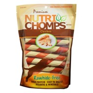 Nutri Chomps Chicken Flavored Twist with Wrap Dog Treats 15 Pack