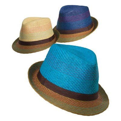 Women's Scala Two Tone Matte Toyo Fedora **Assorted Colors Only**
