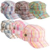 Women's Scala Plaid Cotton Cadet Cap **Assorted Colors Only**