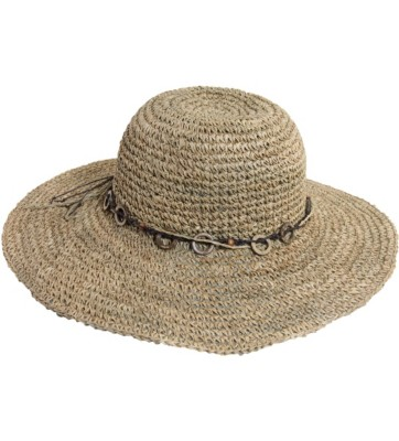 Women's Scala Crocheted Seagrass Hat