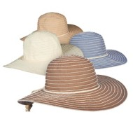 Women's Tropical Trends Chambray Ribbon Hat **Assorted Colors Only**
