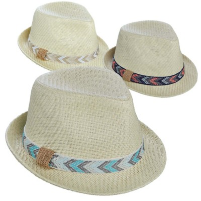 Women's Tropical Trends Matte Toyo Fedora **Assorted Colors Only**