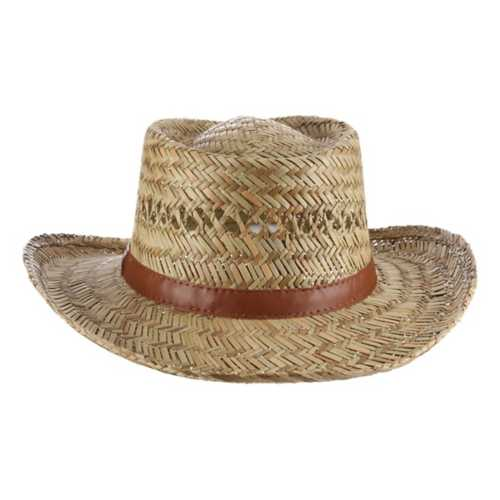 Dorfman-Pacific Rush Straw Hats **ASSORTED STYLES ONLY**