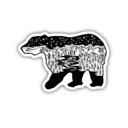 Stickers Northwest Bear Scene Sticker