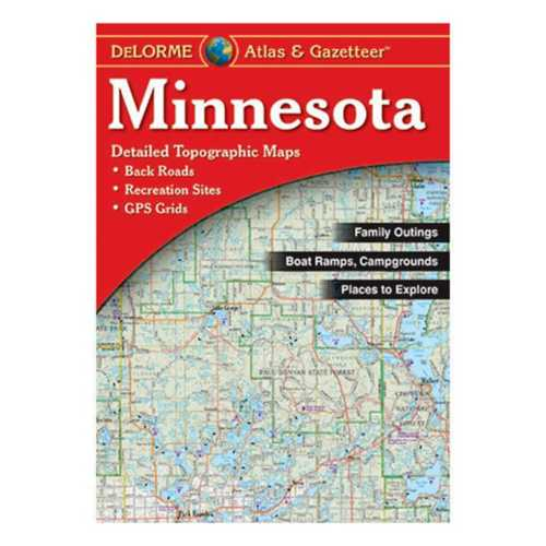 DeLorme Atlas and Gazetteer Paparback Map