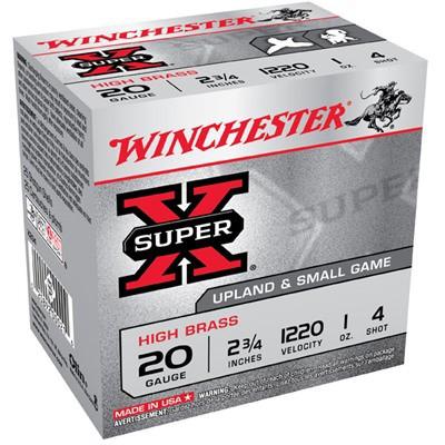 Winchester Ammo 20ga 2.75in Supr-X 2.75d 1oz #4' data-lgimg='{