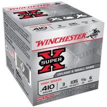 """Winchester Super-X High Brass 410ga 3"""" 11/16 oz. #6 25/bx"""