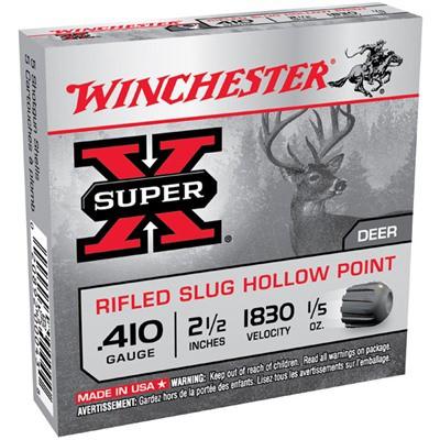 """Winchester Super-X 410ga 2.5"""" 1/5 oz. Slug 5/bx"""