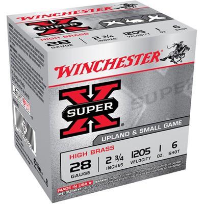 """Winchester High Brass 28ga 2.75"""" 10z #6 25/bx"""