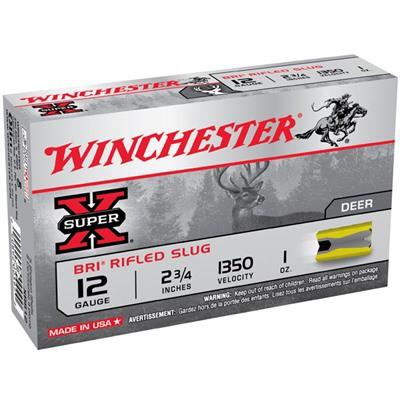 """Winchester Super-X BRI Slug 12ga 2.75"""" 1 oz. 5/bx"""