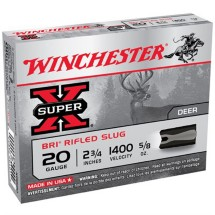 """Winchester Super-X BRI Slug 20ga 2.75"""" 5/8 oz. 5/bx"""