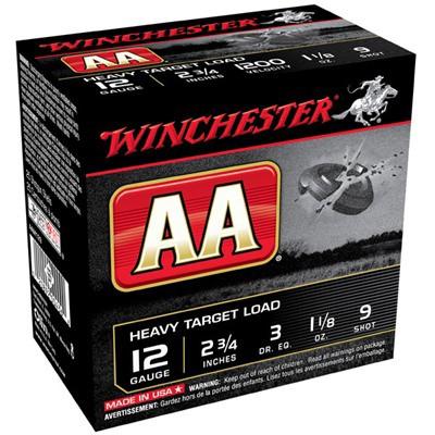 "Winchester AA Heavy Target Load 12ga 2.75"" 1-1/8oz. #9 25/bx"