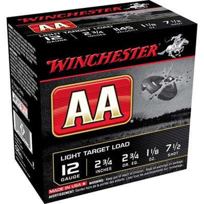 Winchester AA 12ga 1-1/8oz Light #7.5